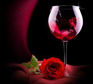 vino con rosas