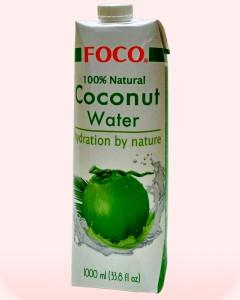 Agua un litro calorias de de coco de